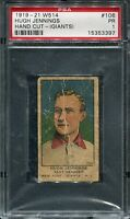 1919 W514   Hugh Jennings  TOUGH Giants Variation  HOF 1 of 3 Encapsulad PSA 1 !