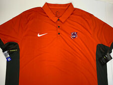 NEW 3XL Clemson Tigers Nike ORANGE Polo Shirt Logo Golf Polyester Men NWT XXXL
