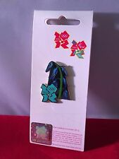 London 2012 Olympics FLOWERS SPRING BLUEBELL Badge Limited Edition BRAND NEW