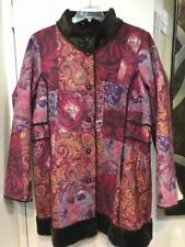 Coldwater Creek Women's Winter Outerwear Washable Faux Suede Coat Chruch Plus 2X