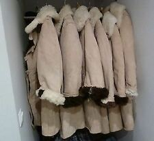 USSR Soviet army Winter Sheepskin Coat TULUP Bekesha Very Warm Natural fur