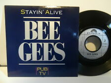 "bee gees""stayin'alive""(pub.tv)single7""or.fr.polydor:873362.7 de 1989.rare"
