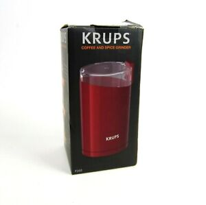 New Krups Coffee & Spice Grinder F203 Red Stainless Steel Blade