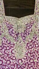 Salwar Kameez Suit, CRYSTALS, Patiala Purple & Black, Banarasi