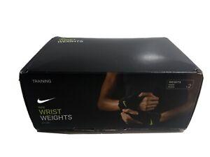 NIKE WRIST WEIGHTS 2.5 LB/1.1 KG (PAIR) BRAND NEW IN BOX DRI-FIT LINING