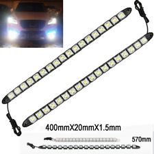 18 LED 6K White Waterproof Universal DRL Flexible Strip Turn Signal Light BM A V
