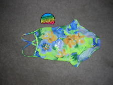 Girls SWIMSUIT Wet Suit Club by Candlesticks One Piece Tank MultiColor  4T NEW