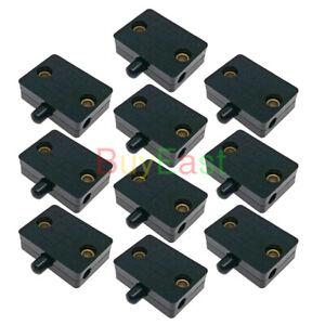 (10 Sets) Cabinet Wardrobe Door Touch Lamp Switch DC12V 24V, AC100~250V 1A BK