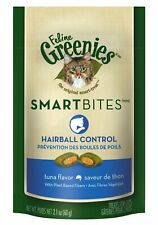Feline Greenies Smartbite Hairball Remedy | Tuna Flavor 2.1oz - Pack of 4