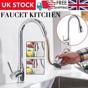 Kitchen Taps Modern Sink Mixer Pull Out Single Lever Mono Chrome Brass Spray Tap