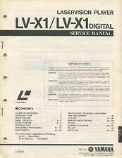 Yamaha LV-X1 Laservision Original Service Manual