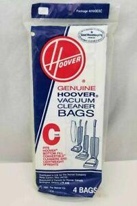 1 Pk of 4 Genuine Hoover Bottom Fill Type C Vacuum Bags -Convertible  4010003C