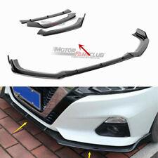 3Pcs For Nissan Altima 2019  Carbon Fiber Front Bumper Lip Cover Mouldings Trim