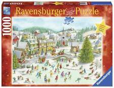 RAVENSBURGER CHRISTMAS PUZZLE*1000 TEILE*EISLAUFEN AN WEIHNACHTEN*RARITÄT*OVP