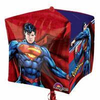 "Superman 15"" Cubez Foil Balloon - DC Superhero Birthday Party Decorations"