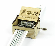 Michael Jackson - Earth Song / Hand Crank Paper Strip Wooden Music Box