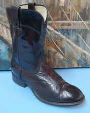 Laredo Men's Cowboy Western Black Leather Ankle Boots Sz 8EE