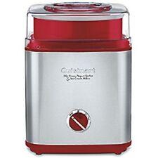 Cuisinart CIM-60PC Yogurt, Sorbet and Ice Cream Maker, 2 quart (Red)