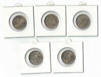 1966/67/68/69/70 Australia, 5 x 10c UNC Coins, Wholesale