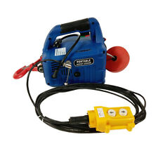 110V Wire-controlled Electric Hoist 450KGX7.6M Portable Household Electric Winch