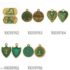 Patina Pendants Charms 20pcs Verdigris Patina Jewelry Findings