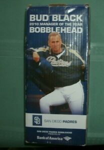 2010 SAN DIEGO PADRES BUD BLACK ' MANAGER OF THE YEAR BOBBLE HEAD MIB