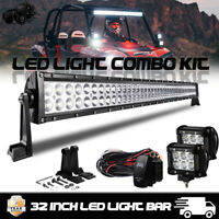 "Polaris RZR XP 1000 & 900S 30"" inch LED Light Bar For Roll Cage Mount Bracket 32"