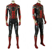 Avengers Endgame Spider-Man Peter Parker Cosplay Costume Tight Suit  Halloween