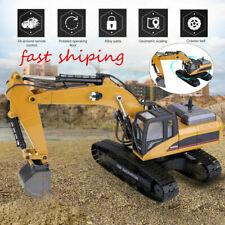 Huina 1580 1:14 RC Excavator 3 in 1 Metal Building Crawler 2.4G Model Vehicle AU