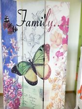 3 panel foldable butterfly print canvas room divider/screen