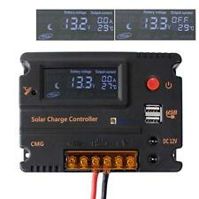 PWM 10A Solar Charge Controller LCD Display 12V/24V With USB Output Charger BA