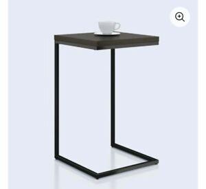 Mainstays C-Shape Metal End Table, Espresso/Black