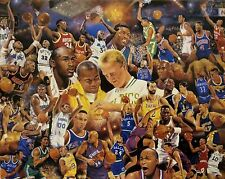 NBA Basketball Greats Poster w/ Michael Jordan, Larry Bird, Magic Johnson & more