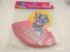 Vintage 1984 Transformers Party Hats, MIP