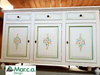 Base 3 Doors White Decorated CMS 150x43x97H