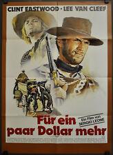 Pour Quelques Dollars Plus R1978 Orig. 23X33 German Film Affiche Clint Eastwood