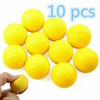 10stück gelb licht indoor trainingshilfe praxis golf sport elastischer pu s I5L4