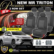 Premium CHARCOAL Seat Covers Mitsubishi Triton MR Dual CAB 2ROW 1/2019-ON GLX+