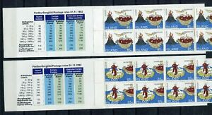 S11530) Island 1994 MNH Europa Booklets x2