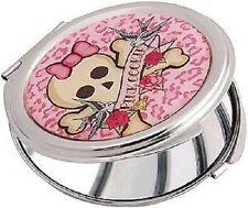 Pink Cookie Compact Mirror Skull & Crossbones Rock/Alternative/Goth/Fashion/Teen