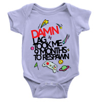 Damn Lag Babygrow Funny Video Game Daddy New Baby Present Boy Body Suit