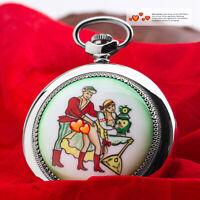 Taschenuhr 3602 russische mechanische EROTIK Uhr Liebespaar MOLNIJA JL