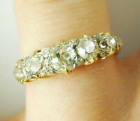 DIAMOND FIVE STONE 1/2 ETERNITY RING 18CT GOLD ANTIQUE CIRCA 1880 1.38CTS utee