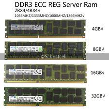 Samsung 4GB/8GB/16GB/32GB/LR DDR3 1333/1600MHZ error-correcting Código Reg Registrado Servidor Ram Lote