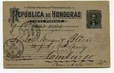 Rep. de Honduras stationery to Hamburg Germany 25.11.1893