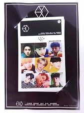 EXO XOXO Photo Sign Card ( 10 pcs ) KPOP BaekHyun ChanYeol Kai DO SeHun SuHo Lay