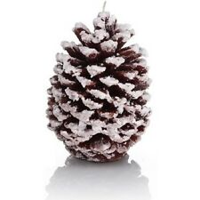 "Christmas Alpine Natural Pine Cone Candle Brown Large 6"" Gift Bag Xmas Set"
