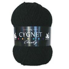 Cygnet Chunky Cheap 100 Acrylic Knitting Yarn / Wool 100g Black 217