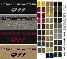 Lloyd Mats Porsche 911 Front Porsche 911 Double Logo Floor Mats (1965-2020)