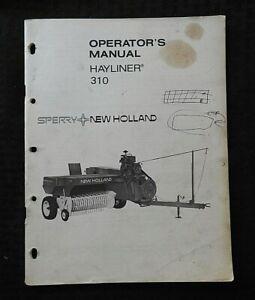 ORIGINAL NEW HOLLAND 310 HAYLINER BALER OPERATORS MANUAL VERY GOOD SHAPE